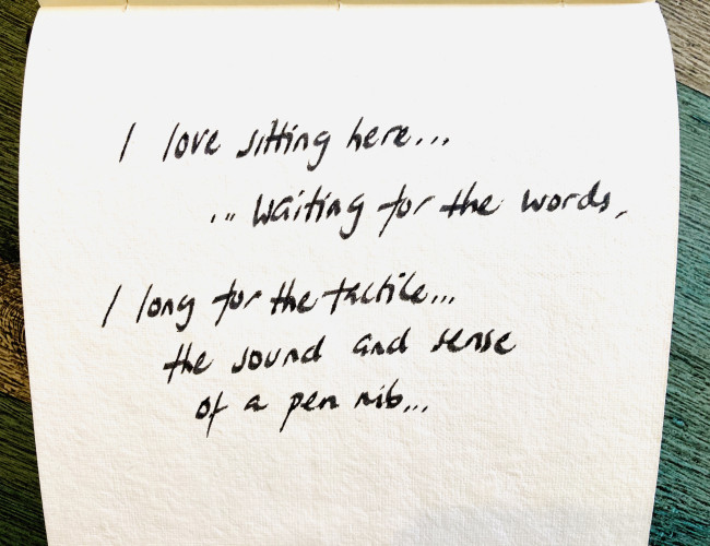 Confessions of a Writer - waiting for the words
